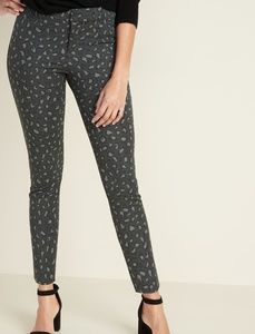OLD NAVY•Mid-Rise Printed Pixie Ankle Pants/Gray/4